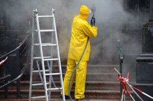 Désinfection par vapeur haute pression