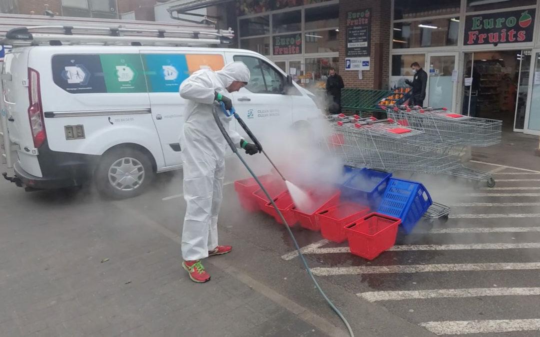 Le grand pouvoir désinfectant de la vapeur diffusée à haute pression